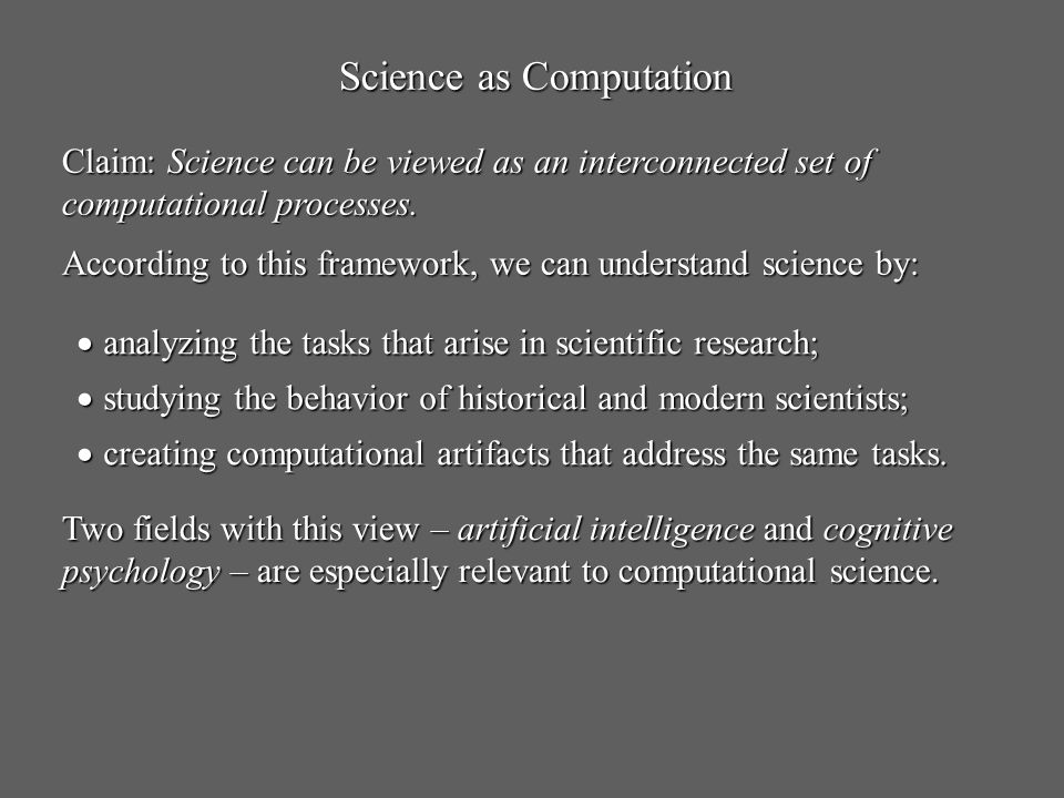 Science as Computation