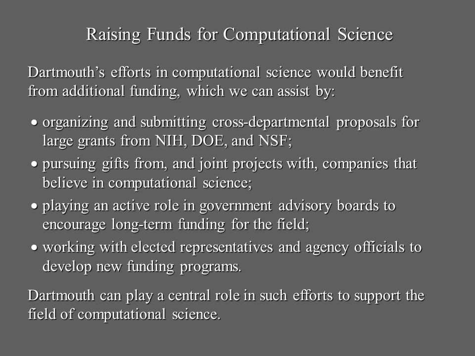 Raising Funds for Computational Science