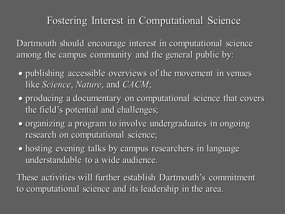 Fostering Interest in Computational Science