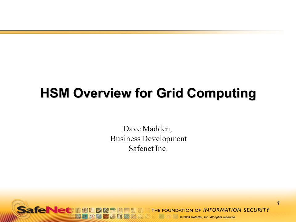 HSM Overview for Grid Computing