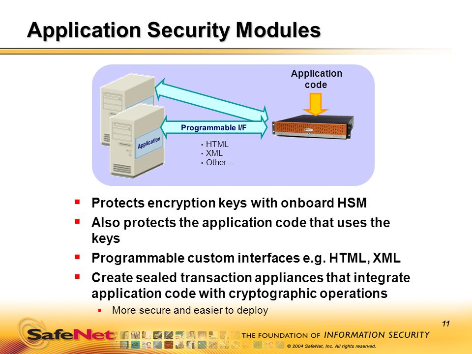 Application Security Modules