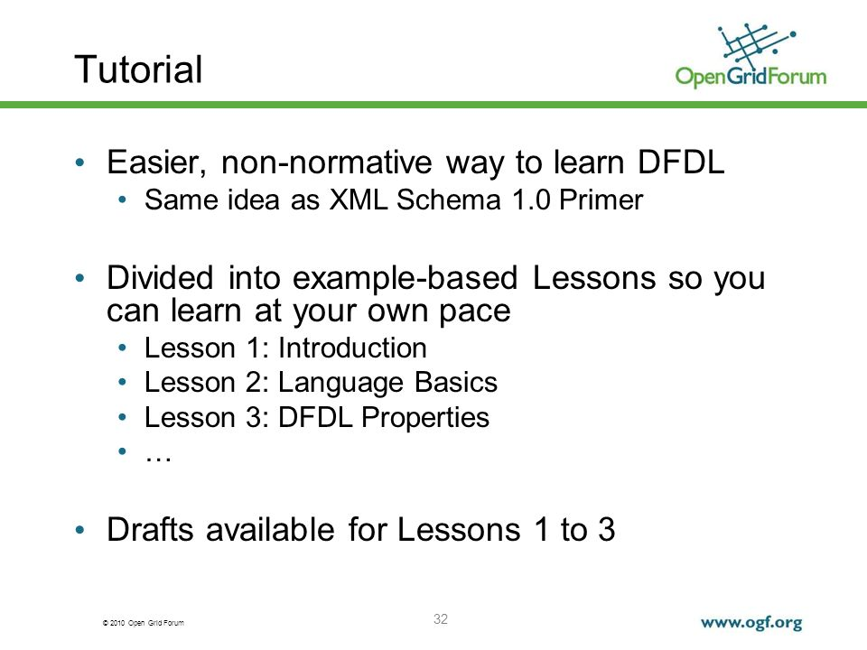 Tutorial Easier, non-normative way to learn DFDL