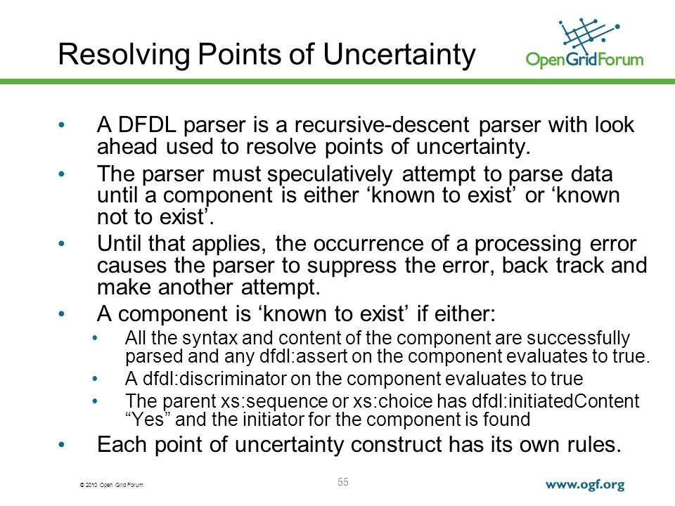 Resolving Points of Uncertainty