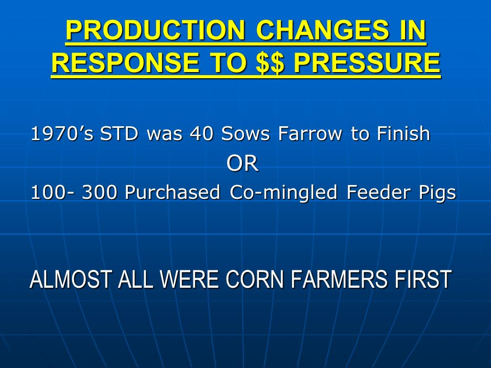 PRODUCTION CHANGES IN RESPONSE TO $$ PRESSURE