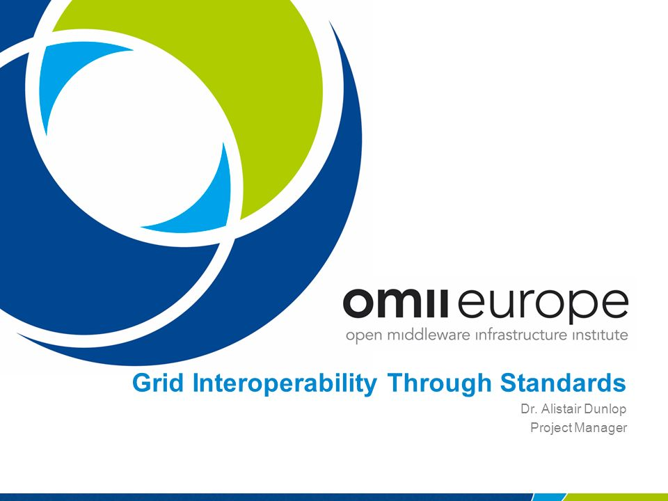 Grid Interoperability Through Standards