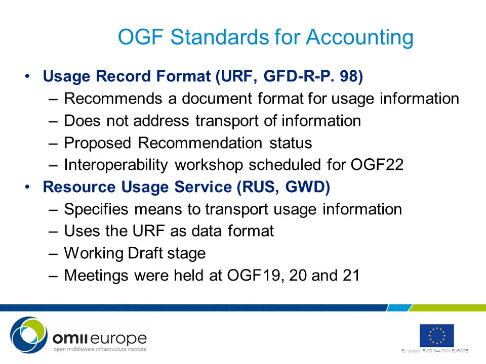 OGF Standards for Accounting