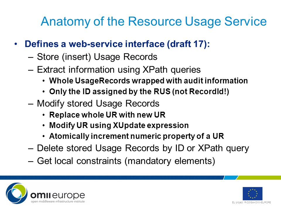 Anatomy of the Resource Usage Service