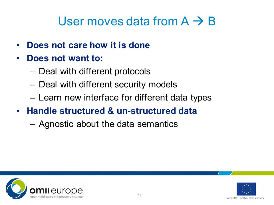 User moves data from A  B