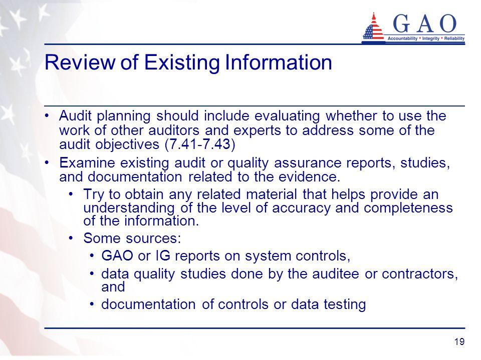 Review of Existing Information