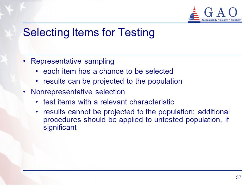 Selecting Items for Testing