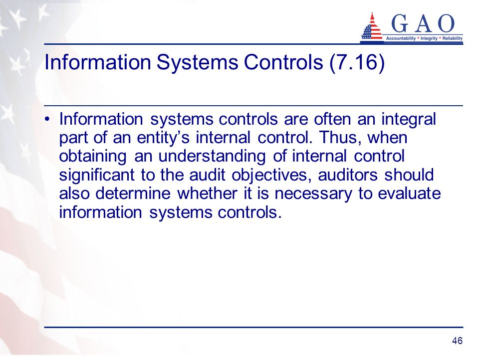 Information Systems Controls (7.16)