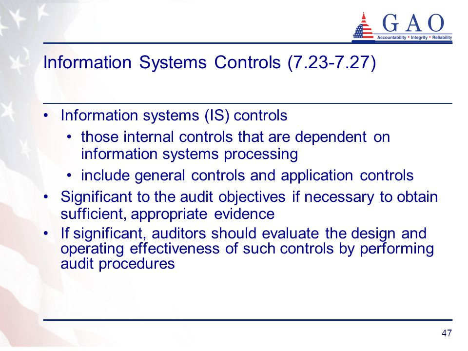 Information Systems Controls (7.23-7.27)