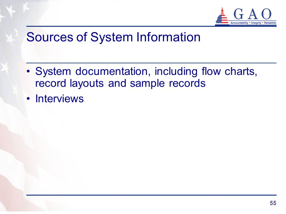 Sources of System Information
