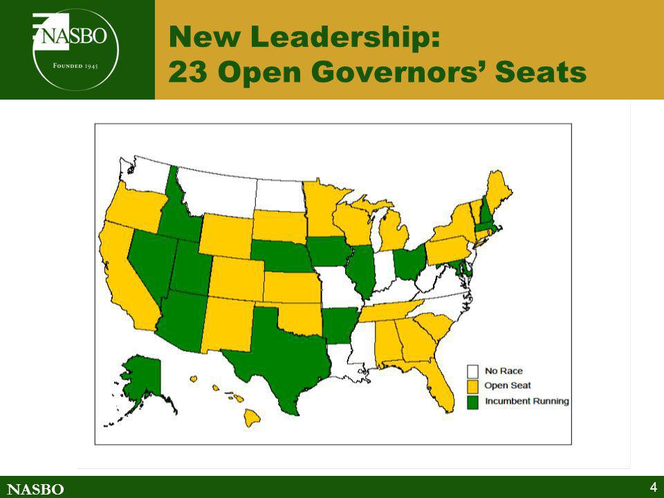 New Leadership: 23 Open Governors' Seats