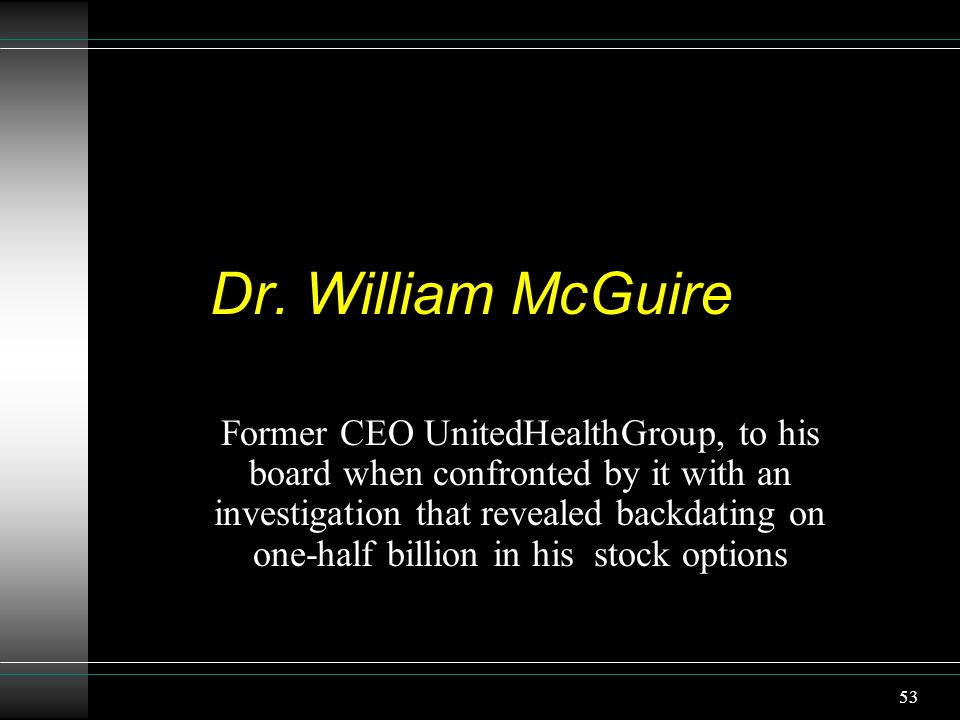 Dr. William McGuire