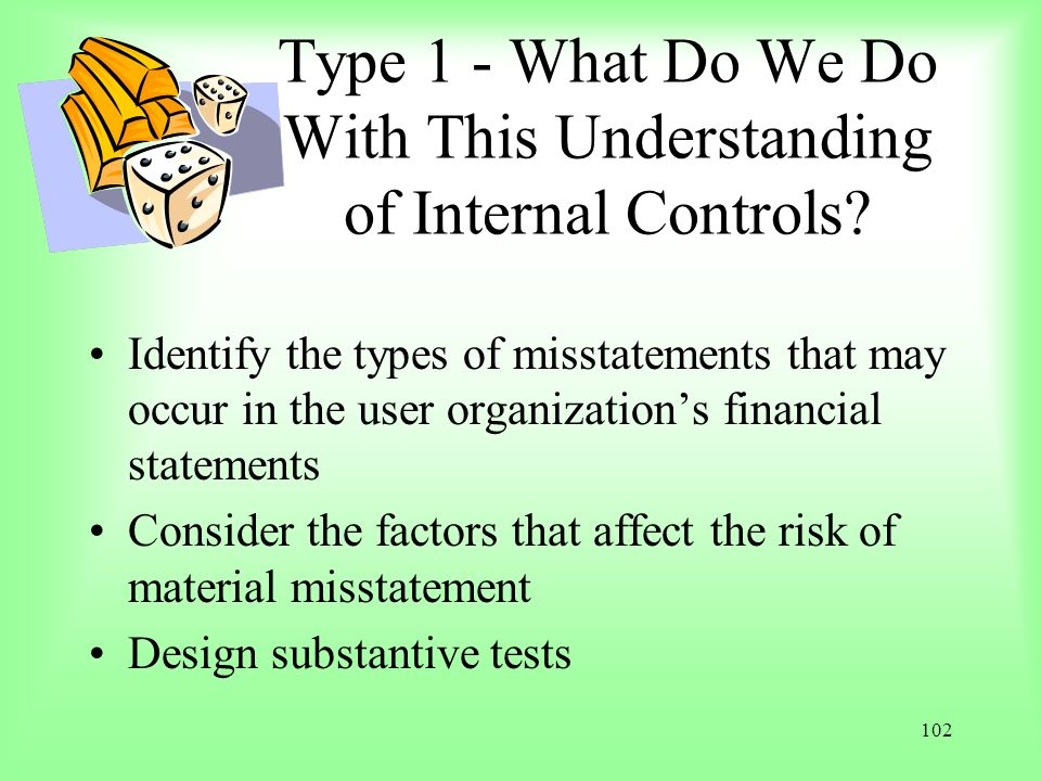 Type 1 - What Do We Do With This Understanding of Internal Controls