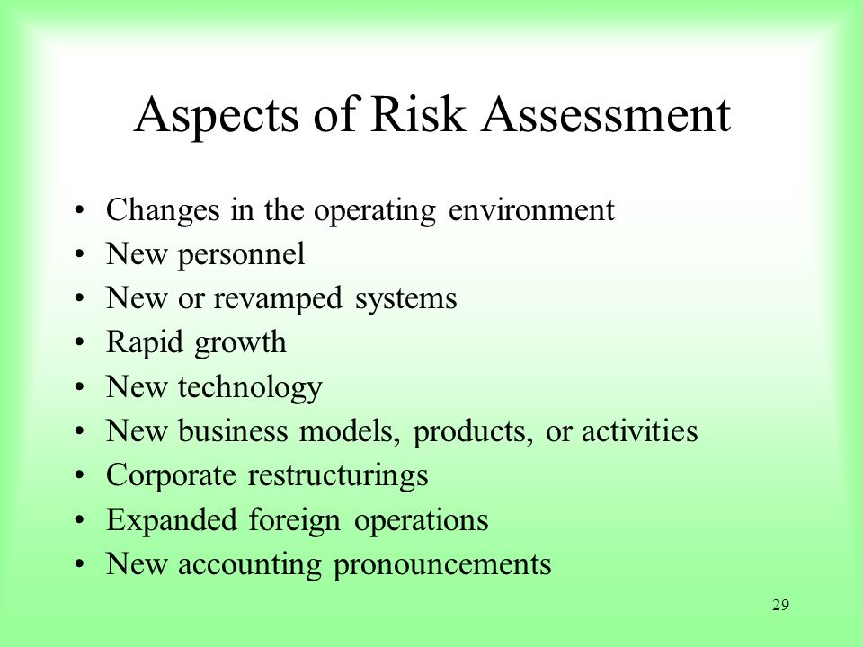 Aspects of Risk Assessment