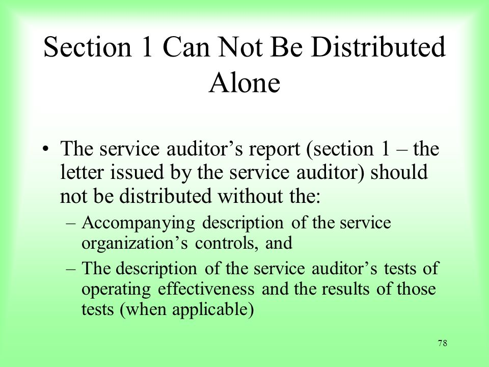 Section 1 Can Not Be Distributed Alone