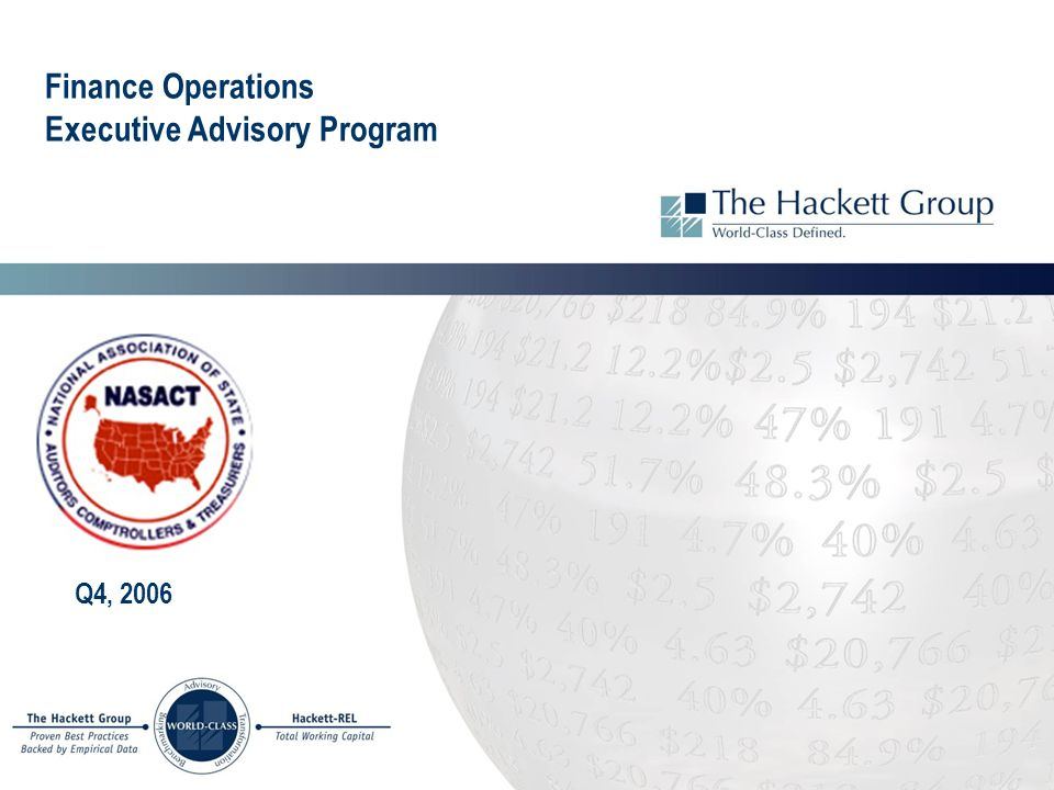 Finance Operations Executive Advisory Program