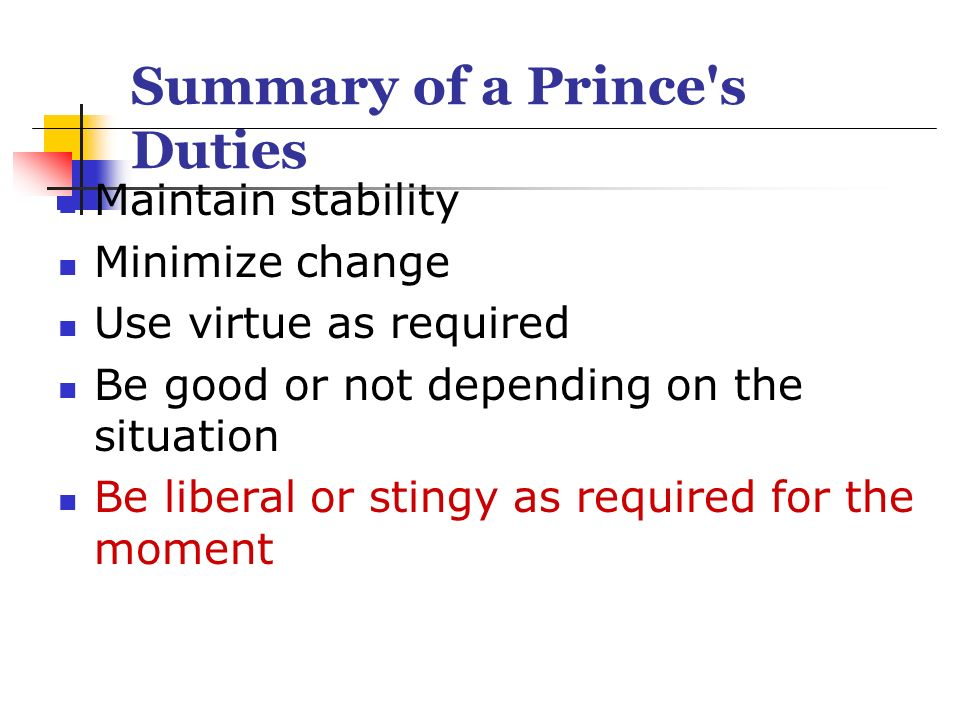 the morals of the prince