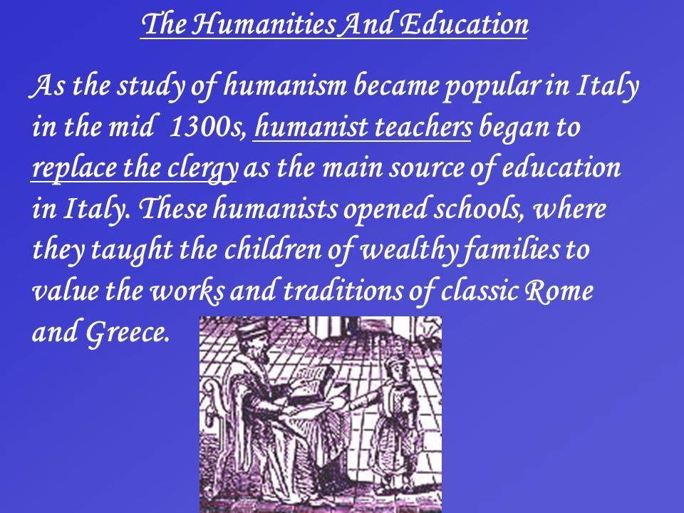 The Humanities And Education