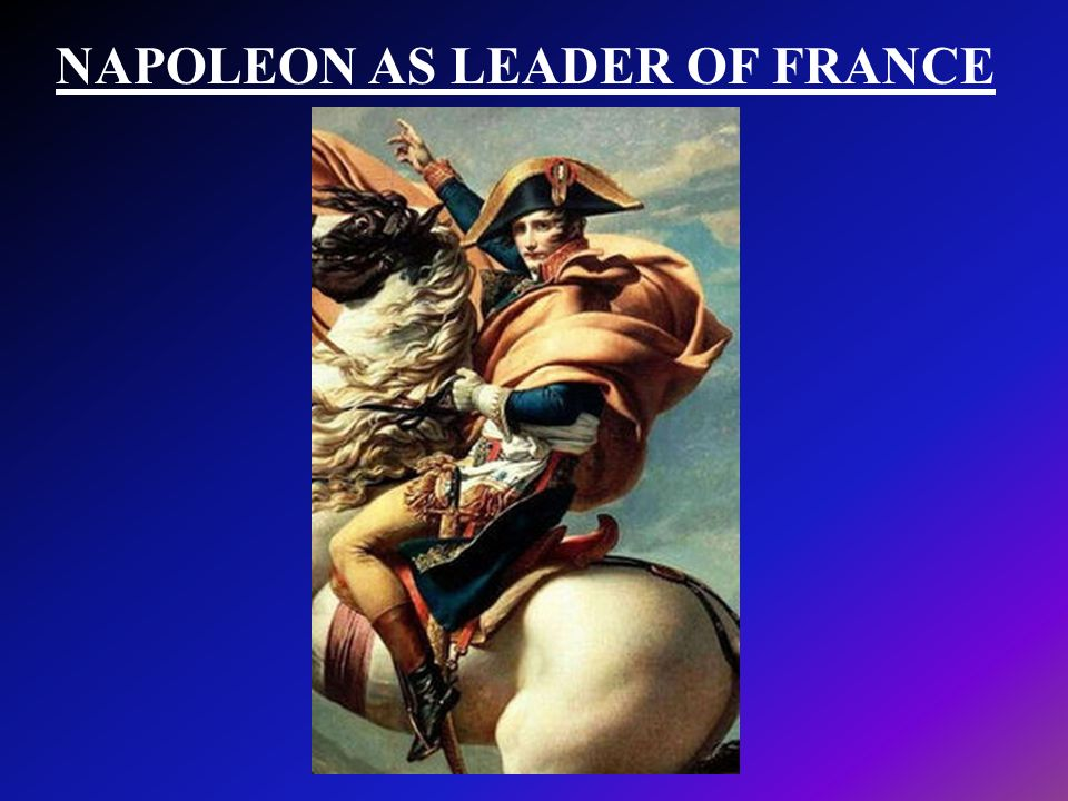 NAPOLEON AS LEADER OF FRANCE