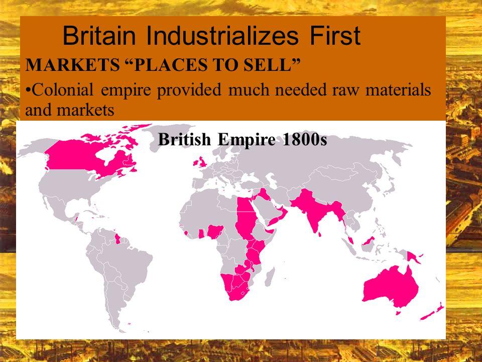 raw materials industrial revolution