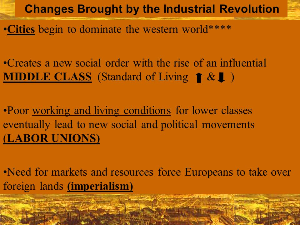 Changes Brought by the Industrial Revolution