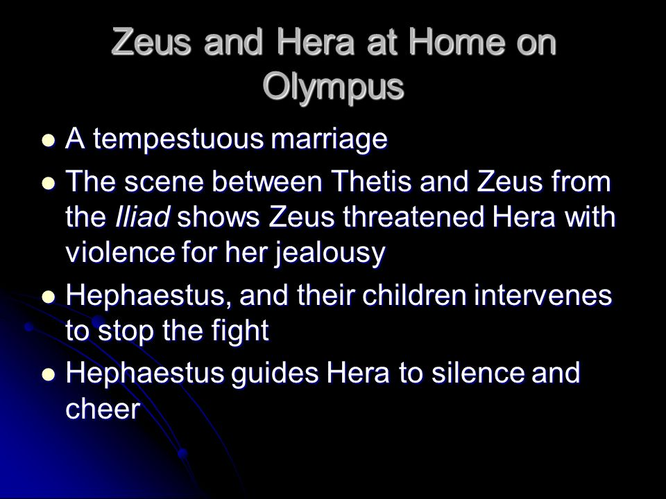 Zeus and Hera at Home on Olympus