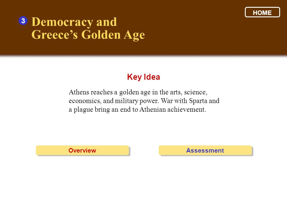 Democracy and Greece's Golden Age Key Idea 3