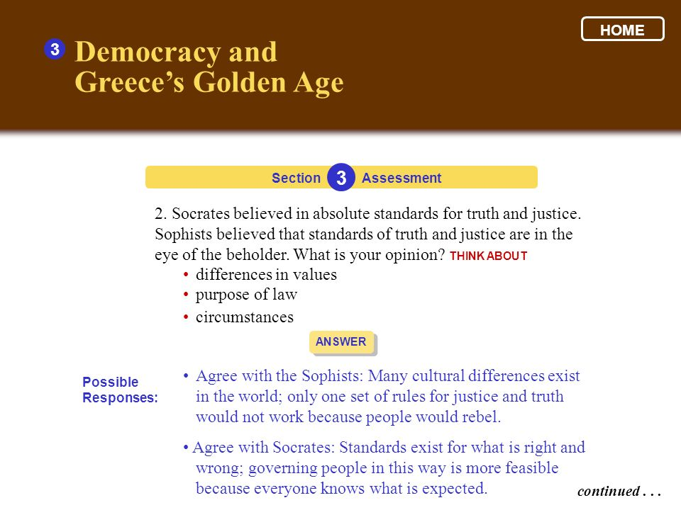 Democracy and Greece's Golden Age 3 3