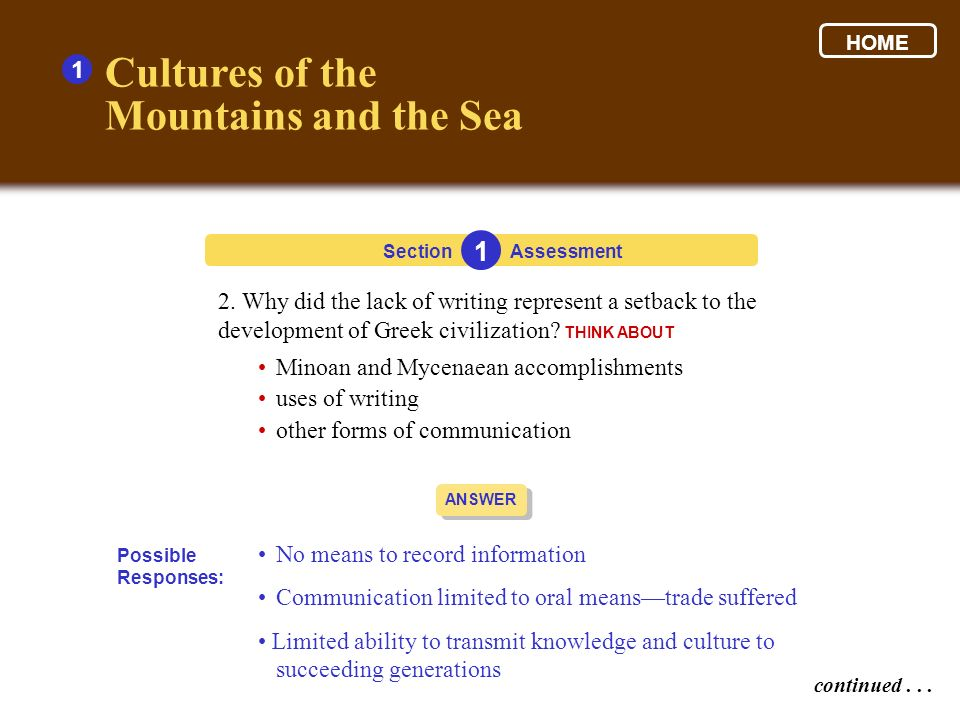Cultures of the Mountains and the Sea 1 1