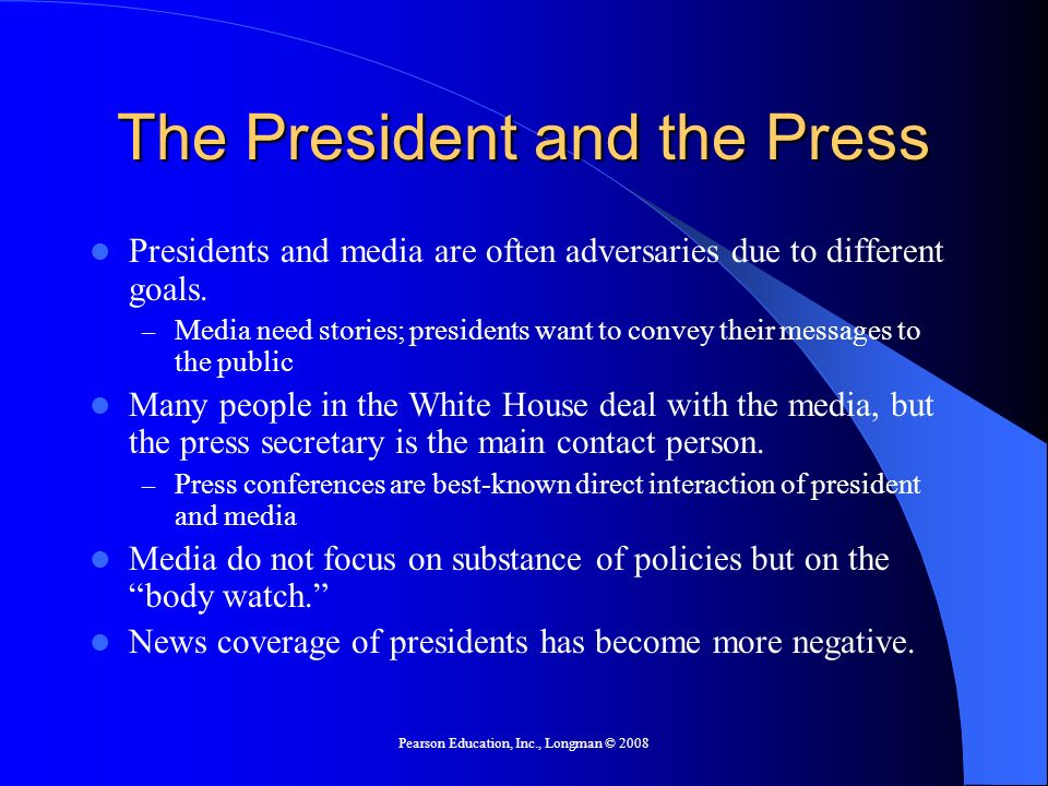 The President and the Press