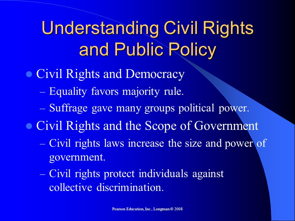 Understanding Civil Rights and Public Policy