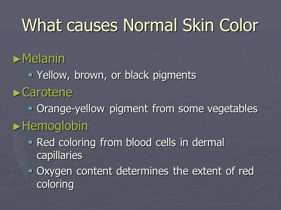What causes Normal Skin Color