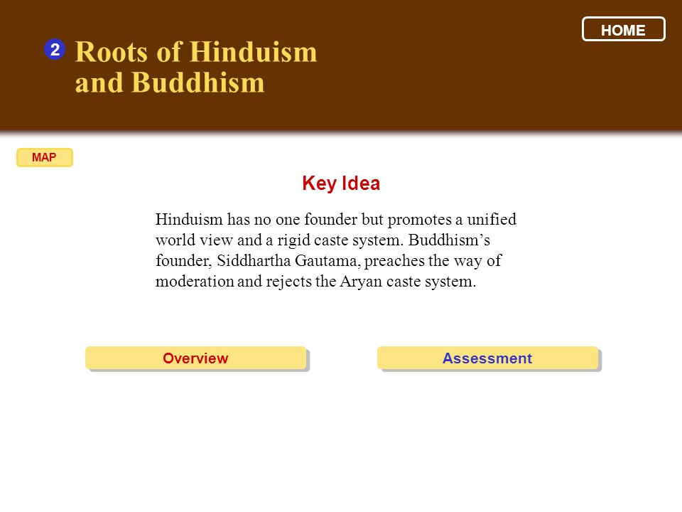 Roots of Hinduism and Buddhism Key Idea 2