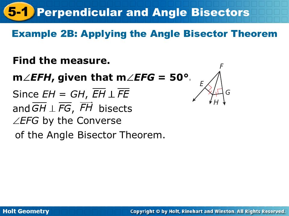 Example 2B: Applying the Angle Bisector Theorem