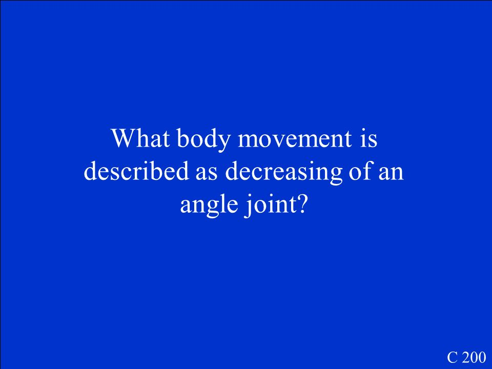 What body movement is described as decreasing of an angle joint