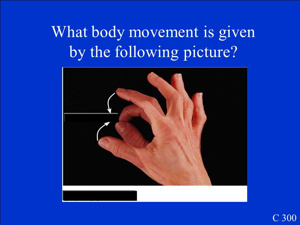 What body movement is given by the following picture