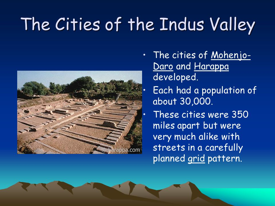 The Cities of the Indus Valley