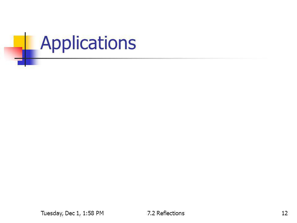 Applications Tuesday, Dec 1, 1:58 PM 7.2 Reflections