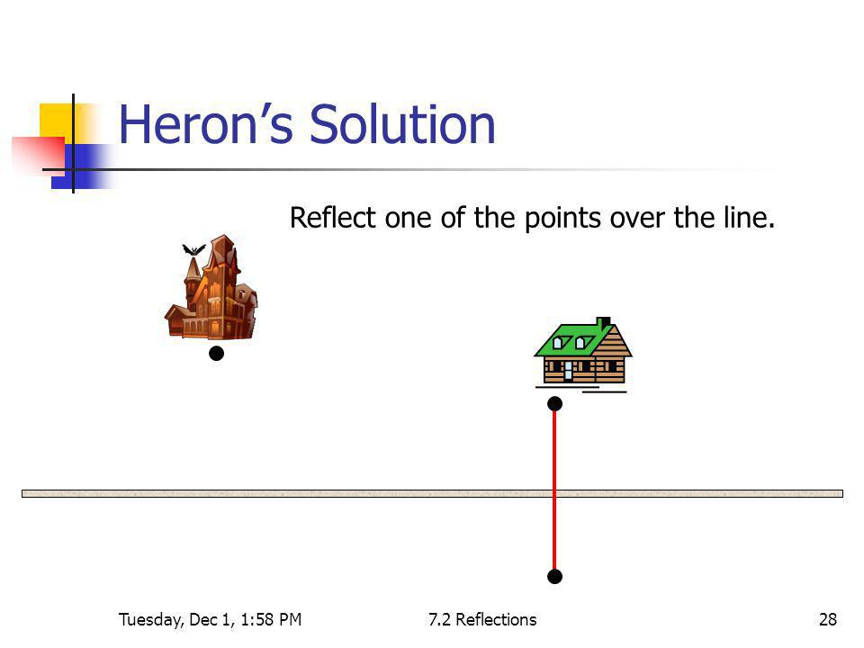 Heron's Solution Reflect one of the points over the line.