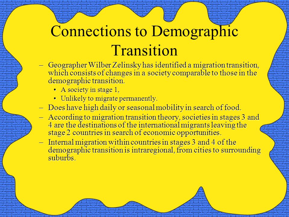 Connections to Demographic Transition