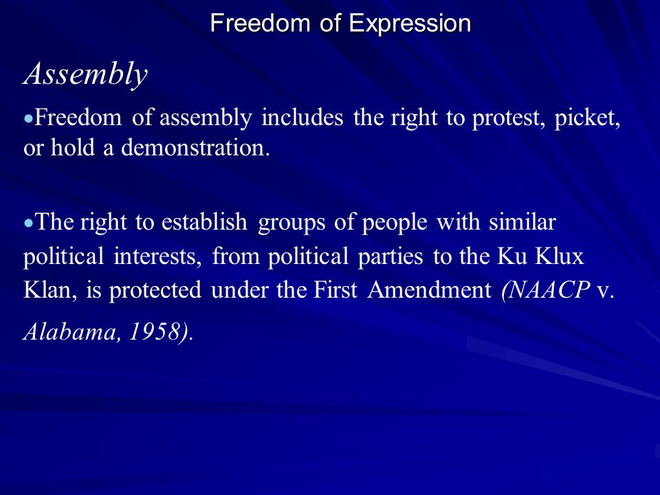 Assembly Freedom of Expression