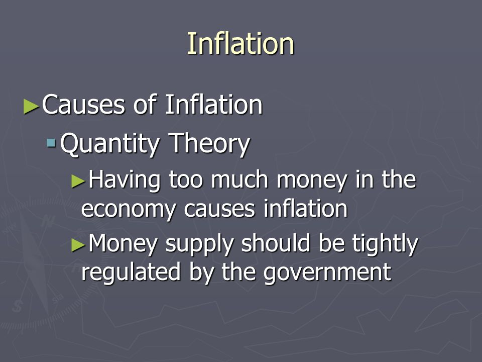 Inflation Causes of Inflation Quantity Theory