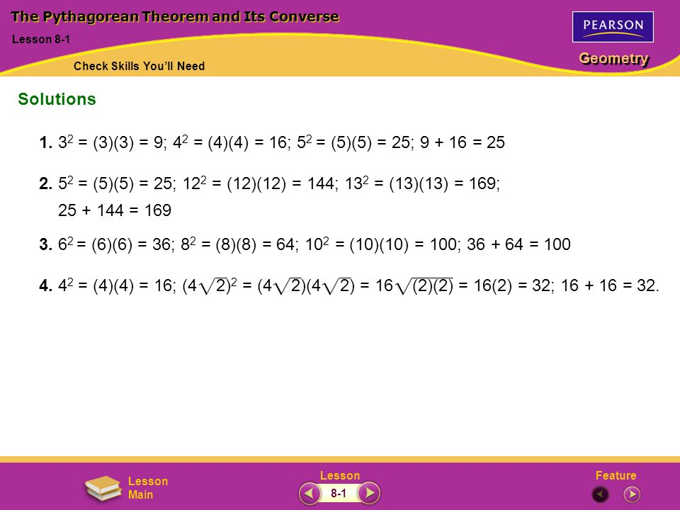 The Pythagorean Theorem And Its Converse Ppt Video Online