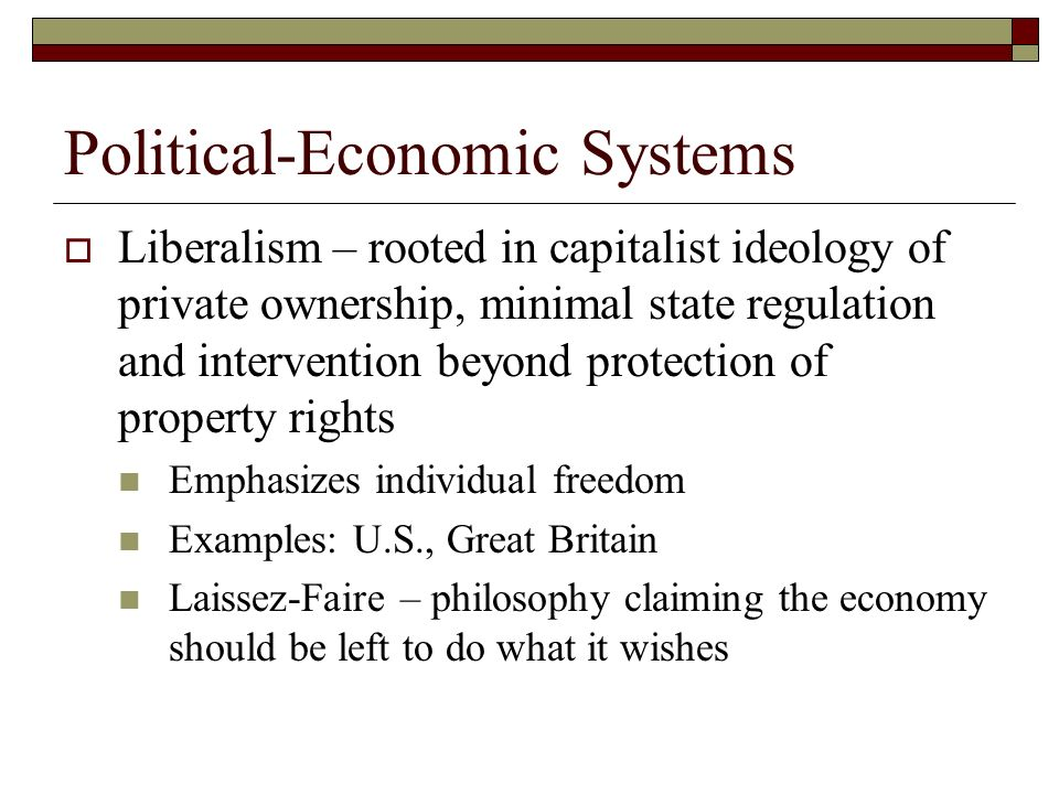 The Political Economy Ppt Download