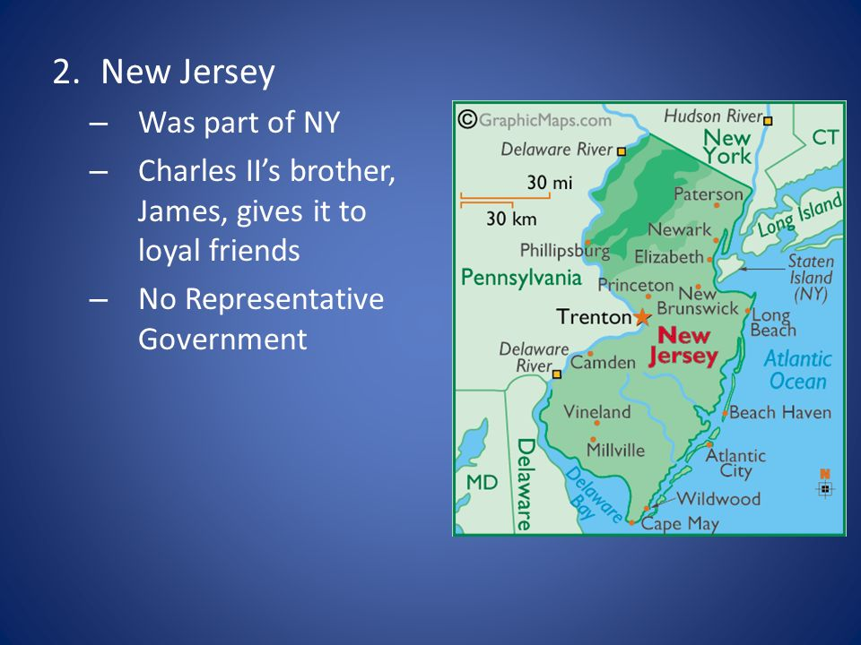 New Jersey Was part of NY