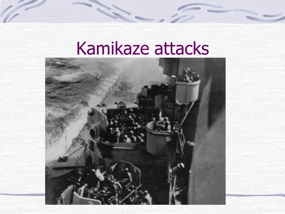 Kamikaze attacks