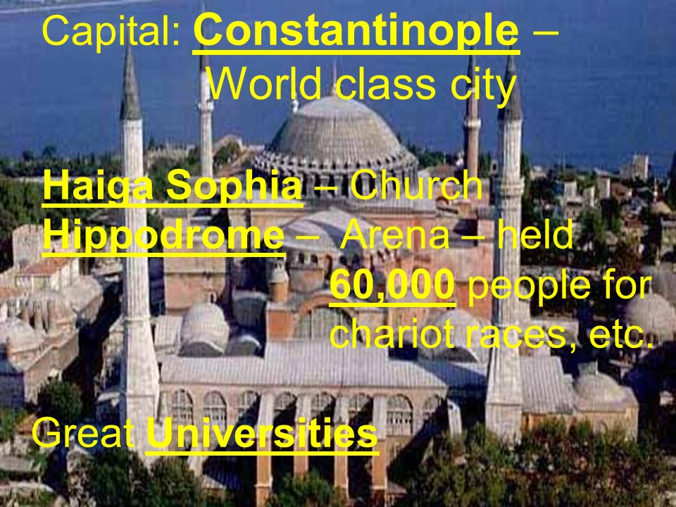 Capital: Constantinople –